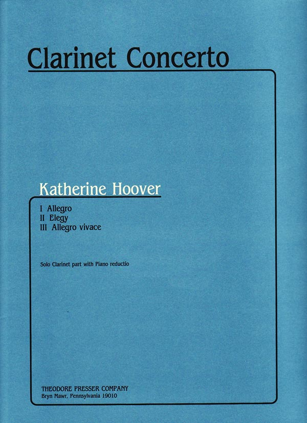 Hoover: Clarinet Concerto