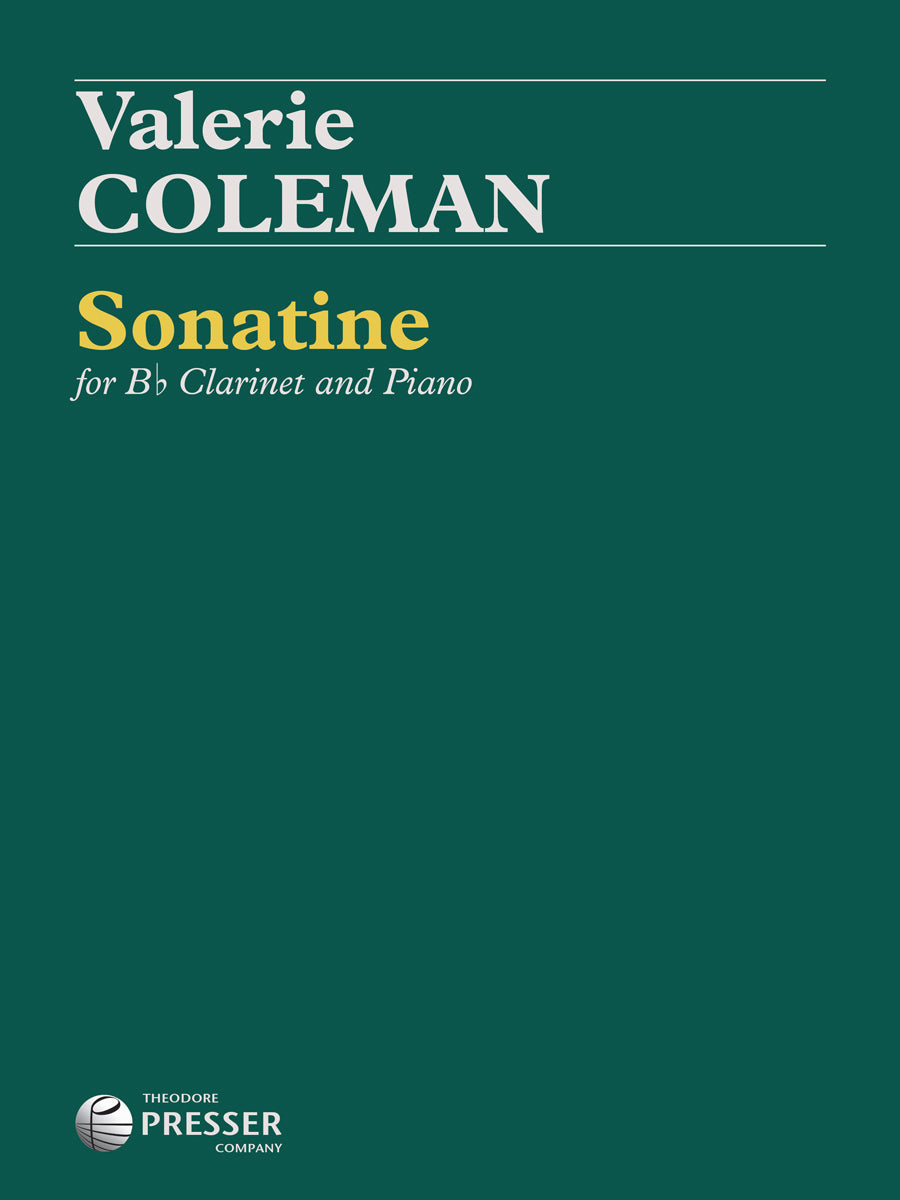 Coleman: Sonatine for B-flat Clarinet and Piano