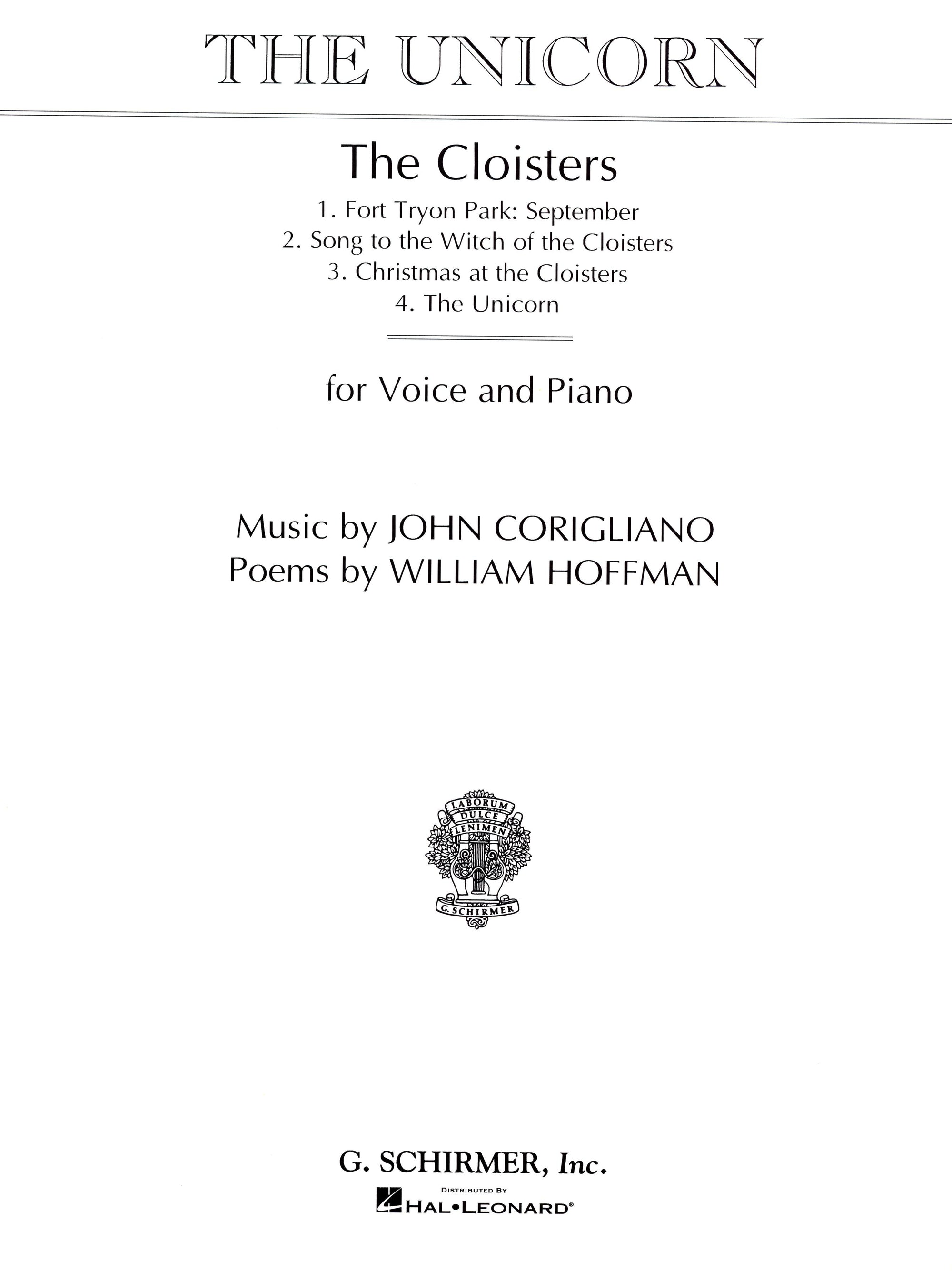Corigliano: The Unicorn (from The Cloisters)