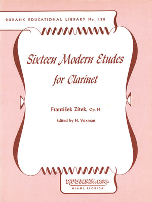 Zítek: 16 Modern Etudes for Clarinet, Op. 14