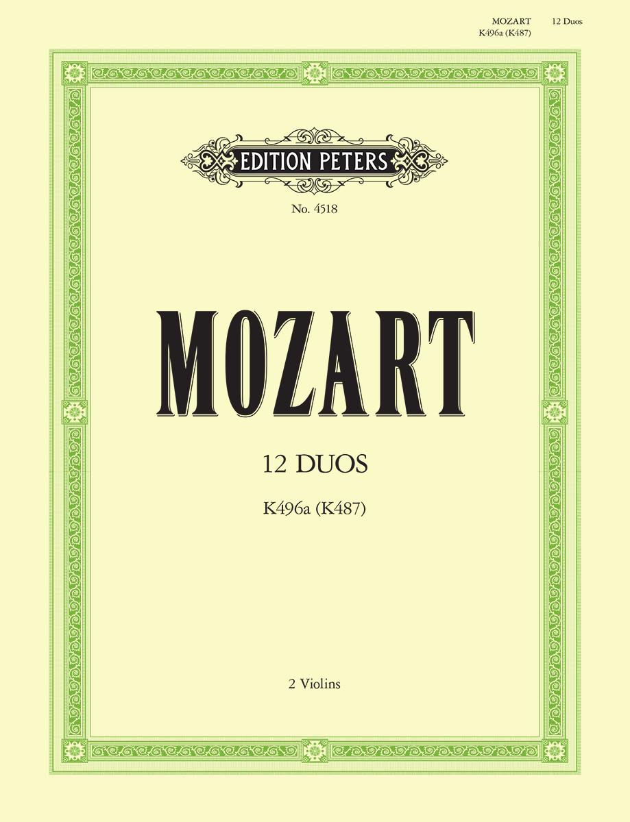 Mozart: 12 Duos, K. 487 (496a) arr. for two violins