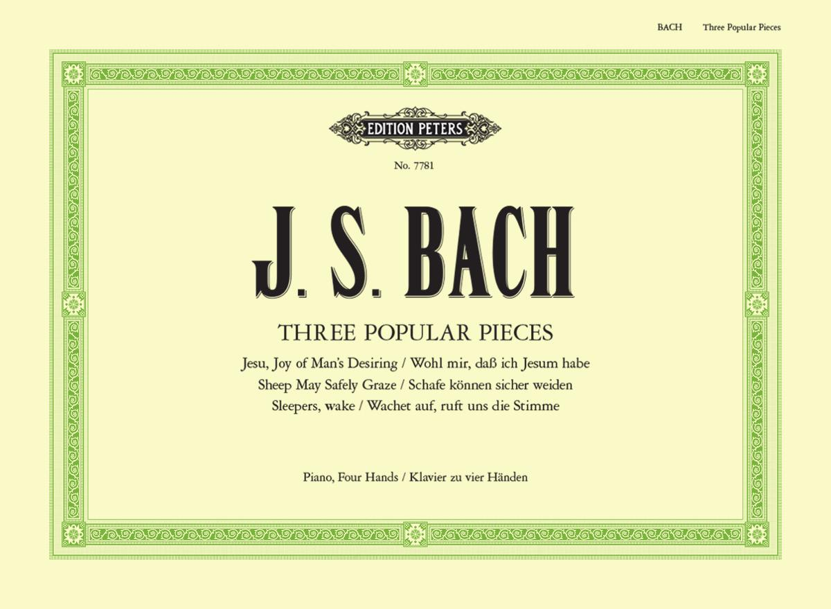 Bach: Three Popular Pieces arranged for Piano Duet