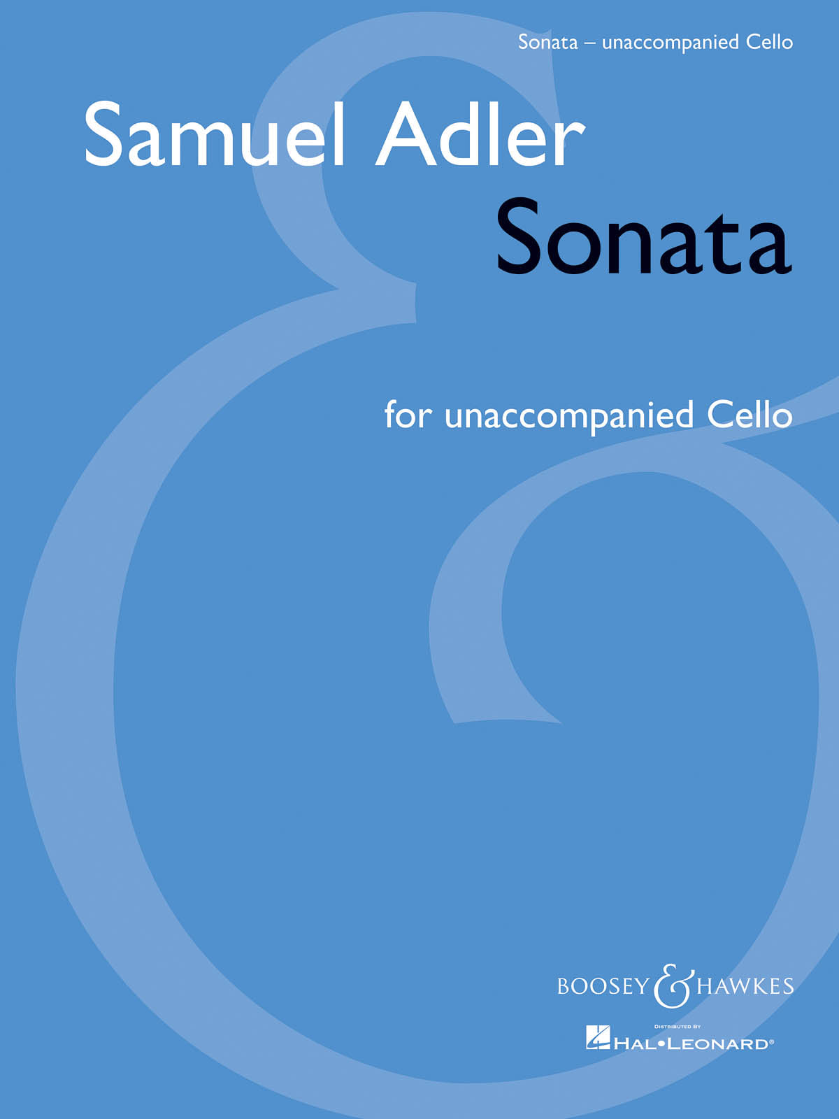 Adler: Sonata for Unaccompanied Cello