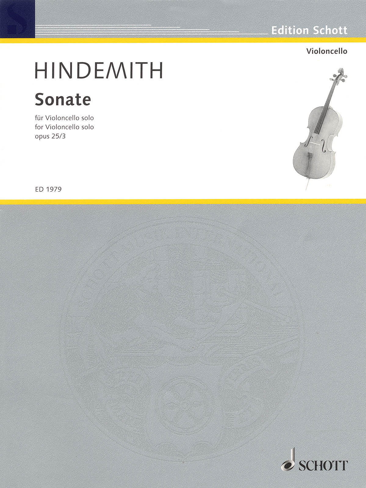 Hindemith: Sonata for Solo Cello, Op. 25, No. 3