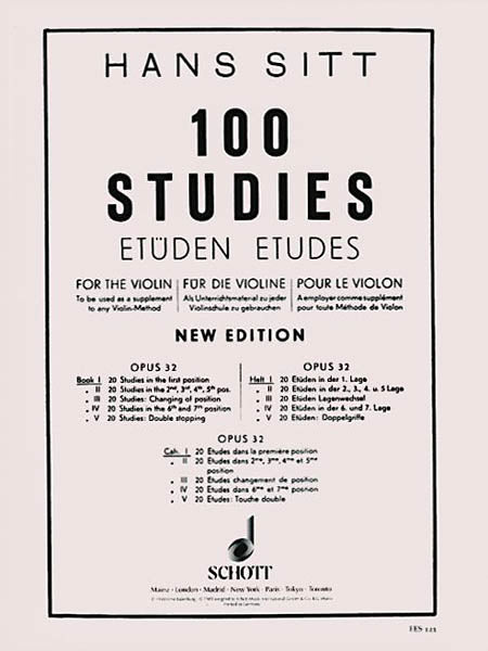 Sitt: 100 Studies, Op. 32 - Book 1