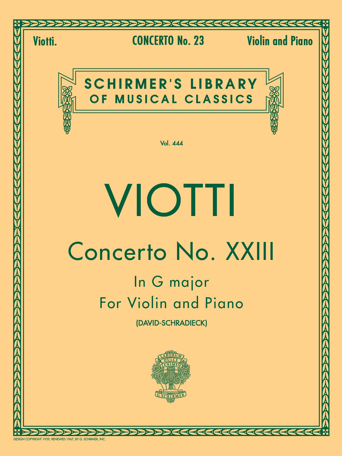 Viotti: Violin Concerto No. 23 in G Major