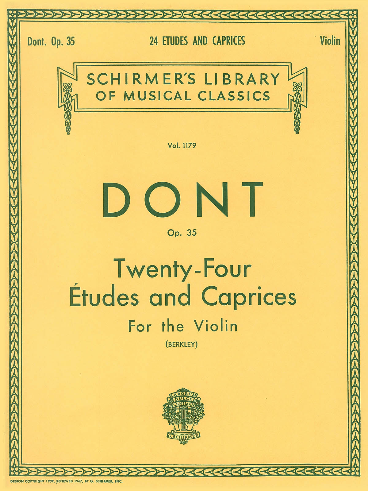 Dont: 24 Etudes and Caprices, Op. 35