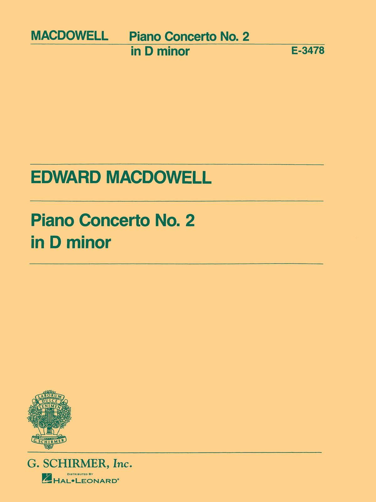 MacDowell: Piano Concerto No. 2 in D Minor, Op. 23