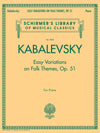 Kabalevsky: Variations on Folk Themes, Op. 51