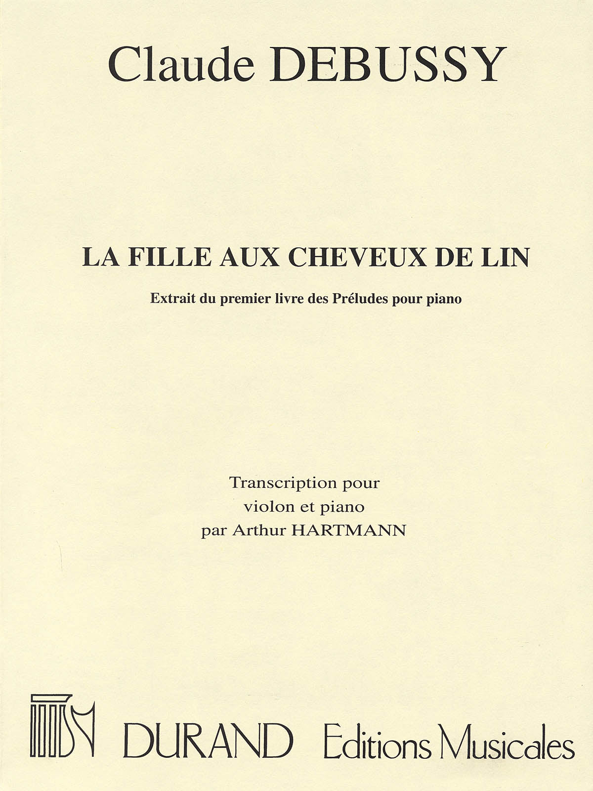 Debussy: La fille aux cheveux de lin (arr. for violin & piano)