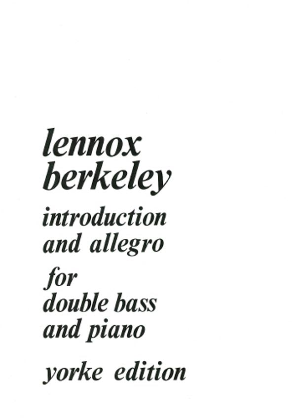 Berkeley: Introduction & Allegro, Op. 80