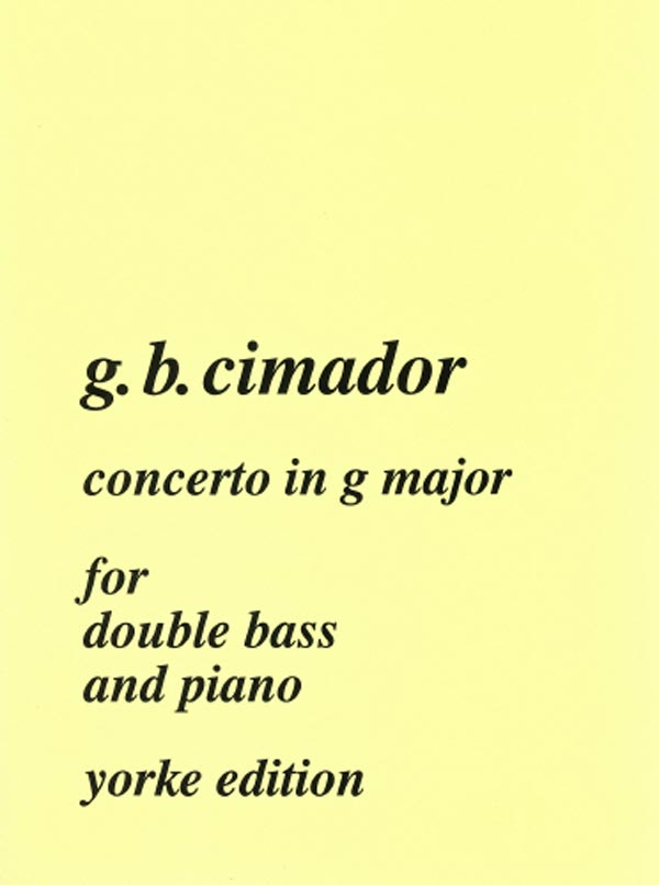 Cimador: Bass Concerto in G Major