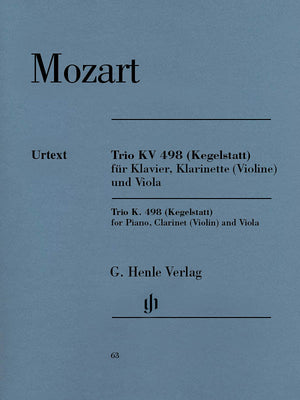 "Mozart: Trio in E-flat Major, K. 498 (""Kegelstatt"")"