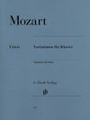 Mozart: Variations for Piano