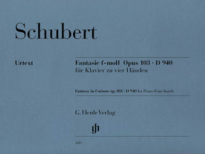 Schubert: Fantasy in F Minor, Op. 103, D 940 (4 Hands)