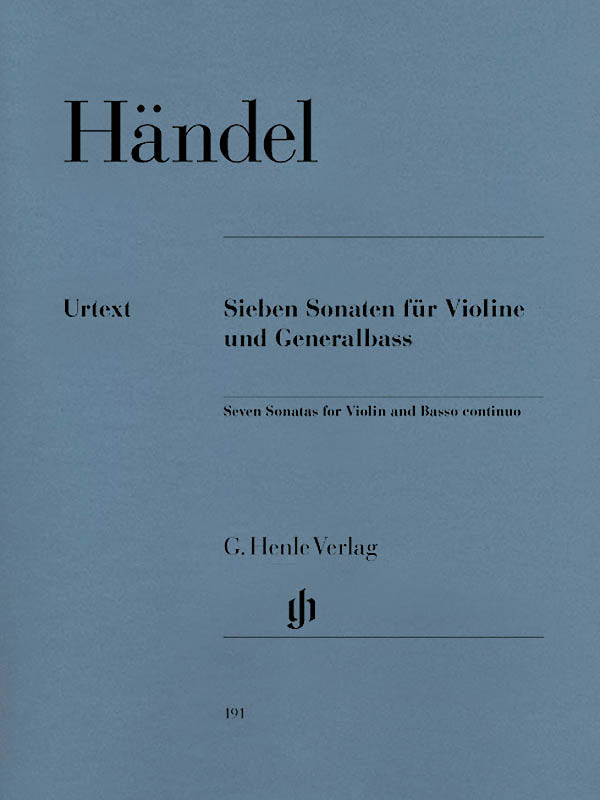 Handel: 7 Sonatas for Violin and Basso continuo