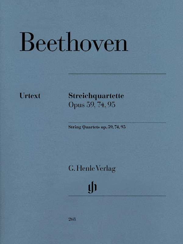 Beethoven: String Quartets, Opp. 59, 74, 95