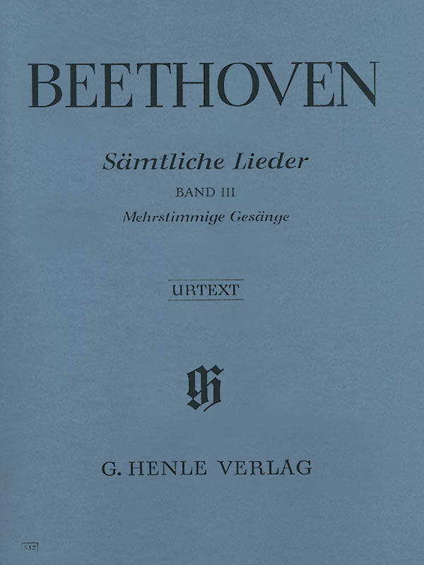 Beethoven: Complete Songs for Voice and Piano - Volume 3
