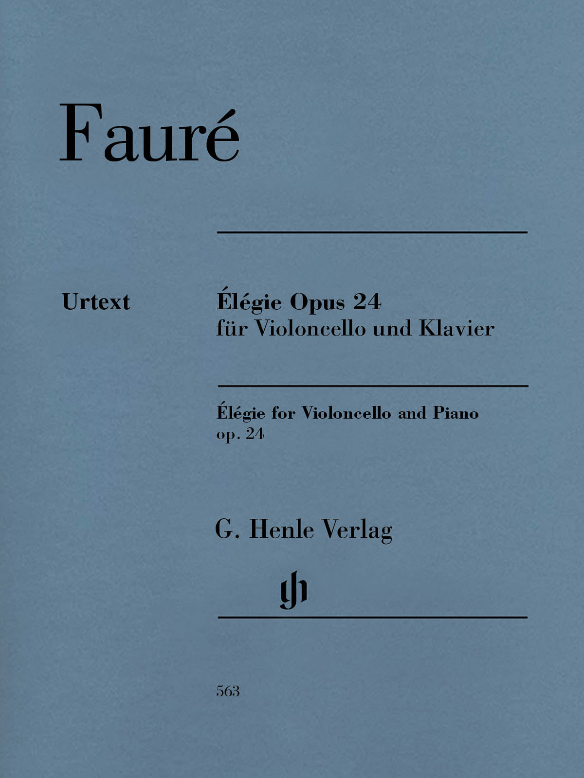 Fauré: Élégie for Cello and Piano, Op. 24