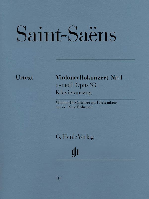 Saint-Saëns: Cello Concerto No. 1 in A Minor, Op. 33
