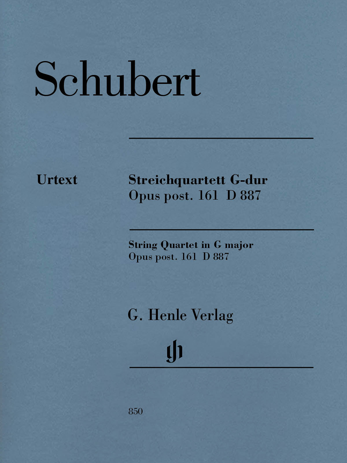 Schubert: String Quartet in G Major, Op. posth. 161, D 887