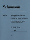 Schumann: 5 Pieces in Folk Style, Op. 102 (Version for Violin)