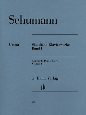 Schumann: Complete Piano Works - Volume 1