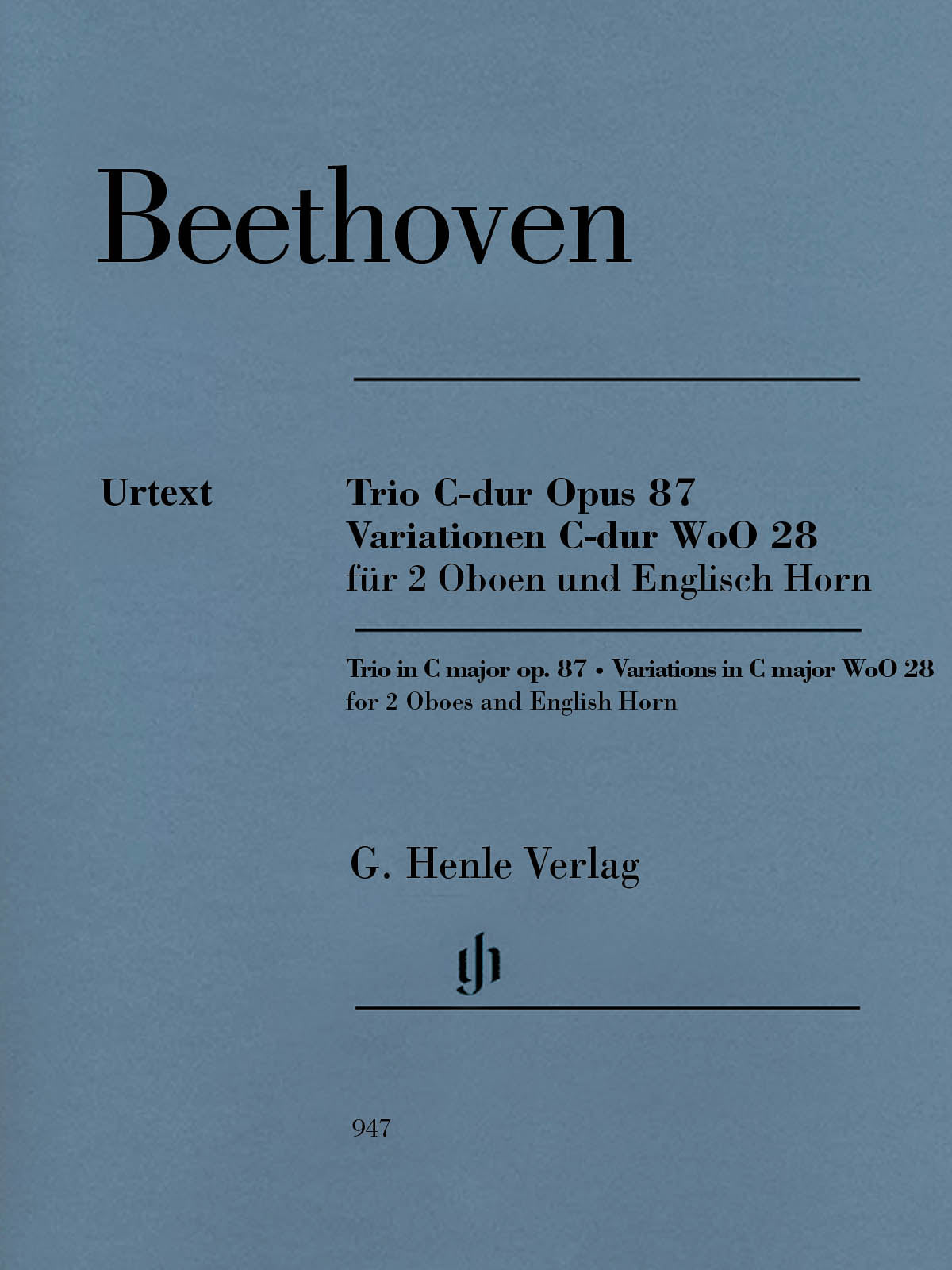 Beethoven: Trio in C Major, Op. 87 & Variations in C Major, WoO 28