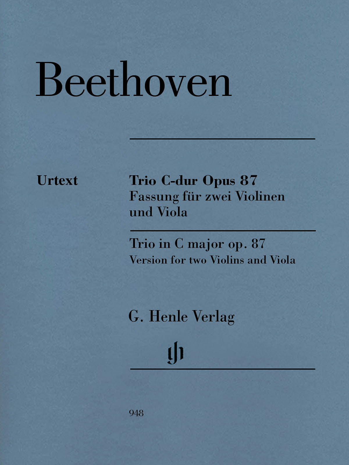 Beethoven: Trio in C Major, Op. 87