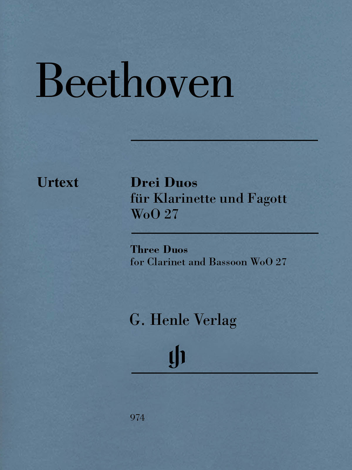 Beethoven: 3 Duos for Clarinet and Bassoon, WoO 27