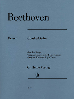 Beethoven: Goethe Songs