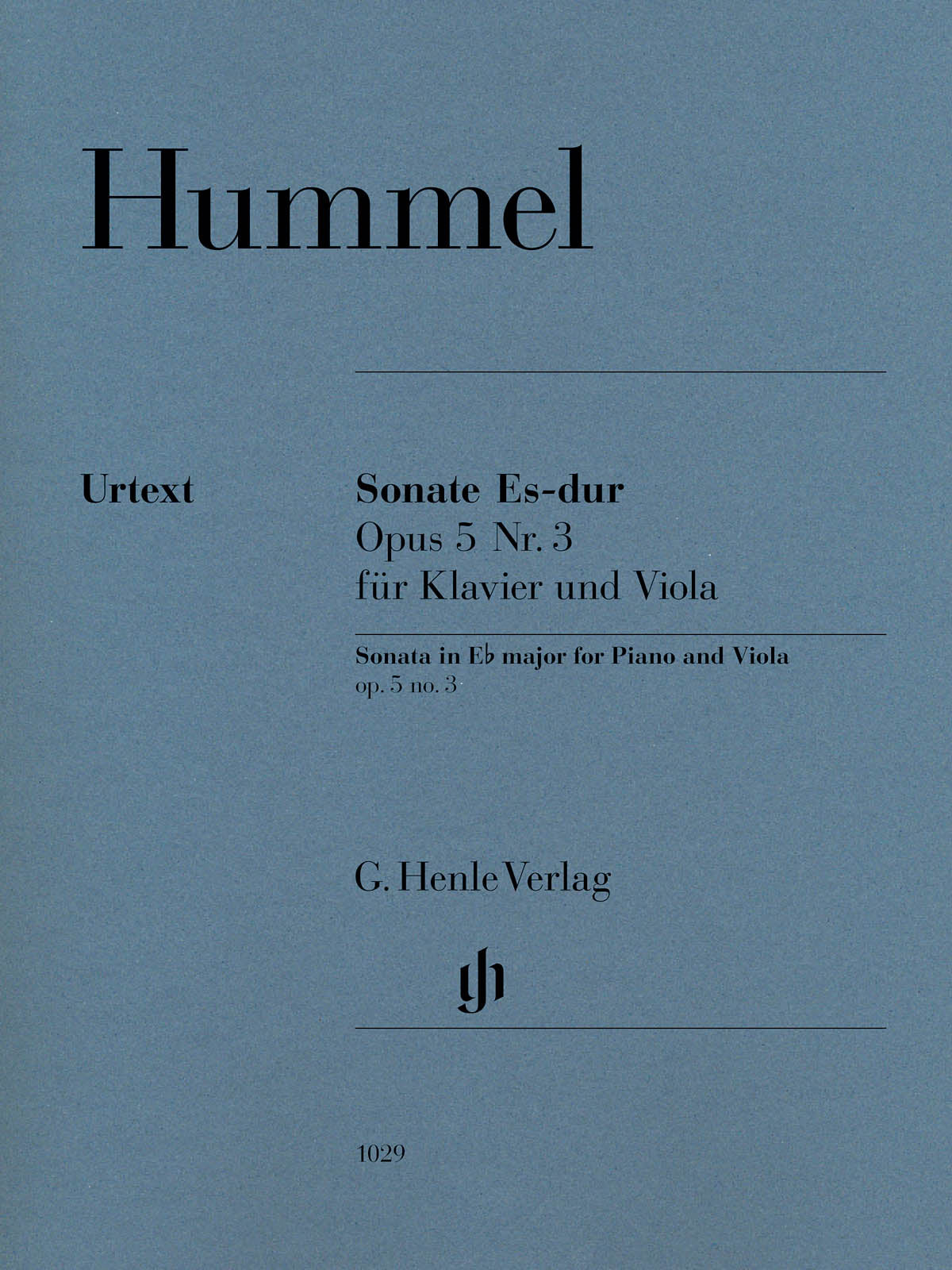 Hummel: Viola Sonata in E-flat Major, Op. 5, No. 3