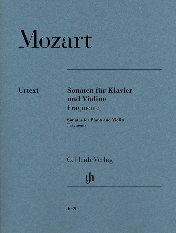Mozart: Violin Sonatas - Fragments