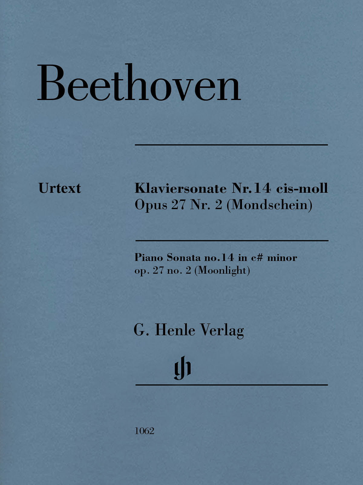 "Beethoven: Piano Sonata No. 14 in C-sharp Minor, Op. 27, No. 2 (""Moonlight"")"