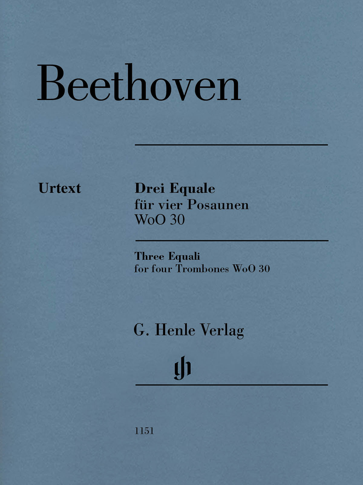Beethoven: Three Equali for Four Trombones, WoO 30