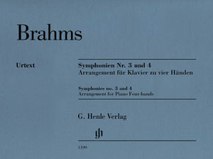 Brahms: Symphonies Nos. 3 and 4 [Arrangement for Piano Four-Hands]