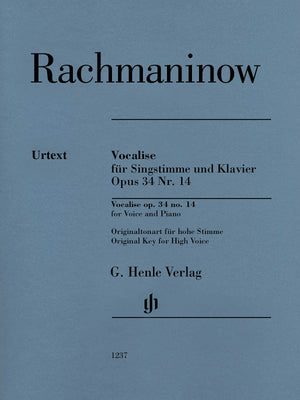 Rachmaninoff: Vocalise, Op. 34, No. 14
