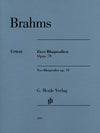 Brahms: Two Rhapsodies, Op. 79
