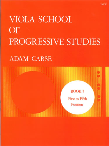 Carse: Viola School of Progressive Studies - Book 5