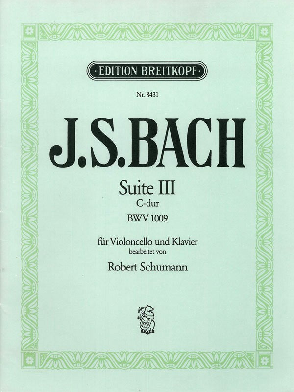 Bach: Cello Suite in C Major, BWV 1009 (arr. for cello and piano)