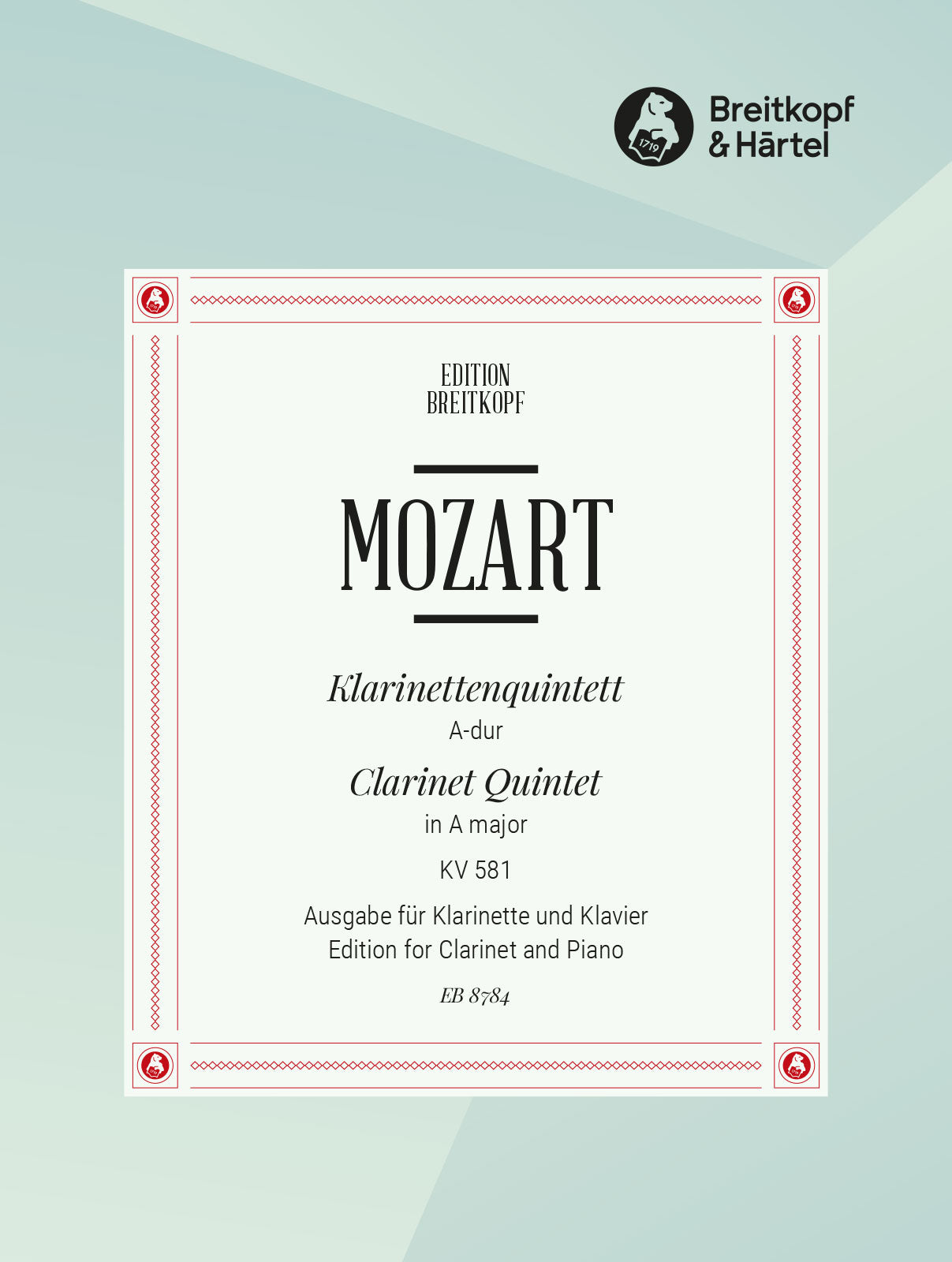 Mozart: Clarinet Quintet, K. 581 (arr. for clarinet & piano)