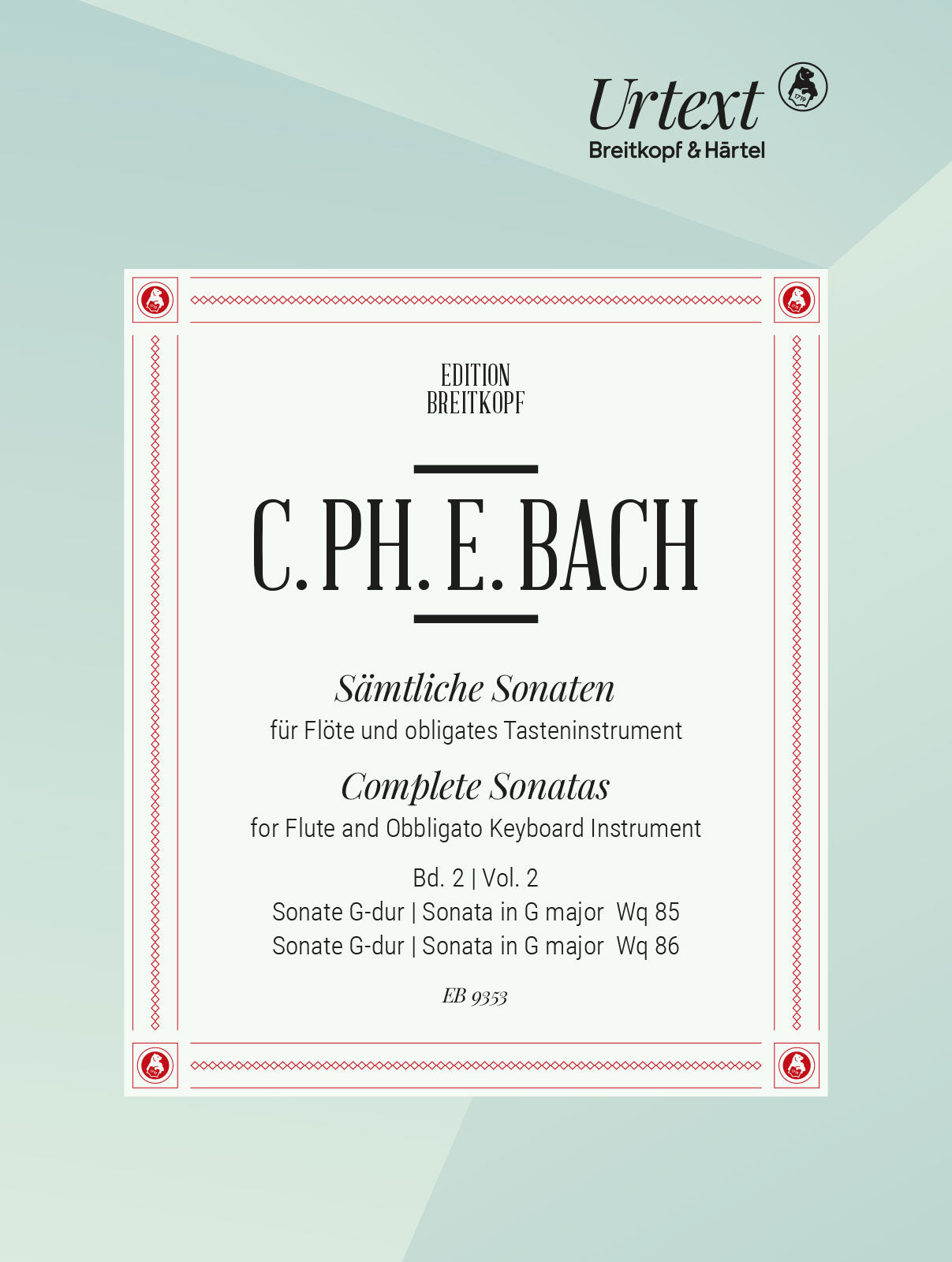 C.P.E. Bach: Flute Sonatas in G Major, Wq. 85 & 86