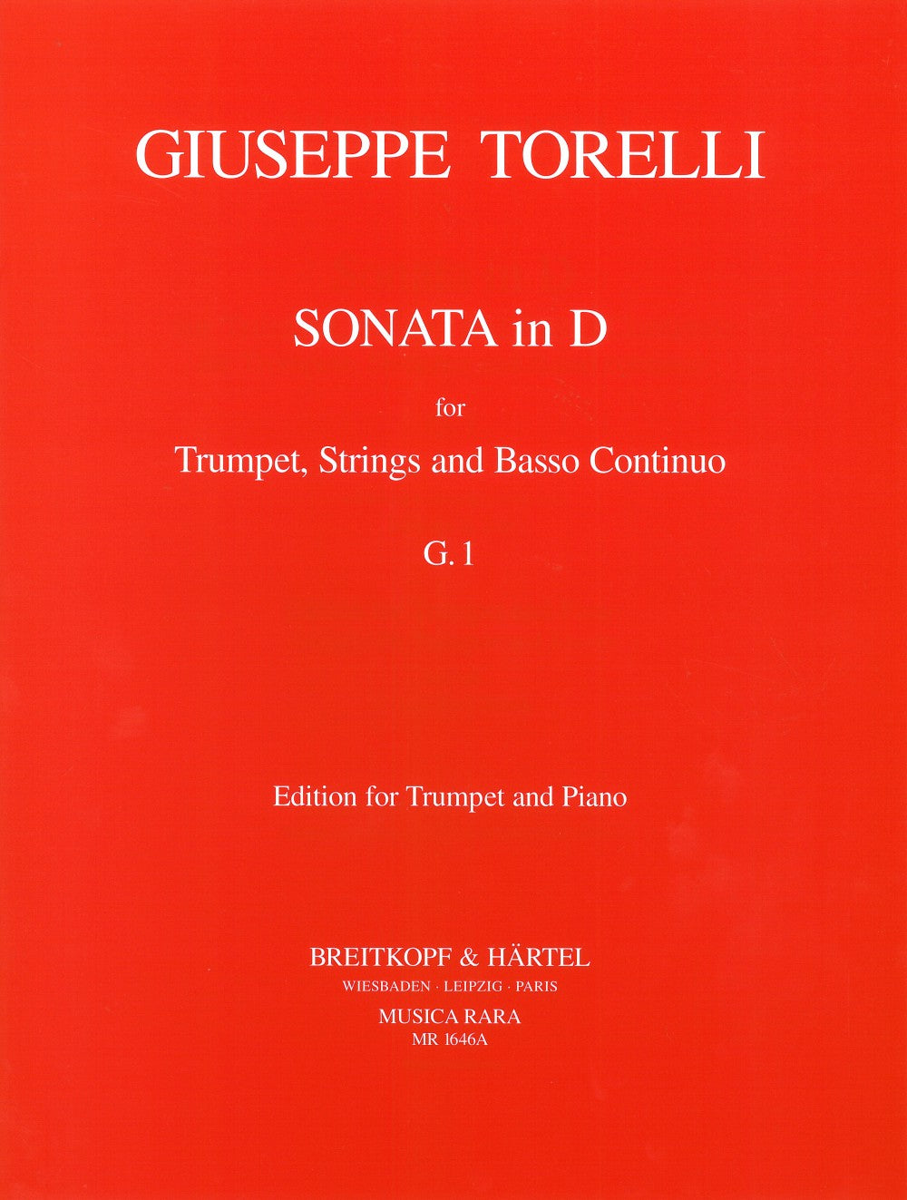 Torelli: Trumpet Sonata in D Major, G.1