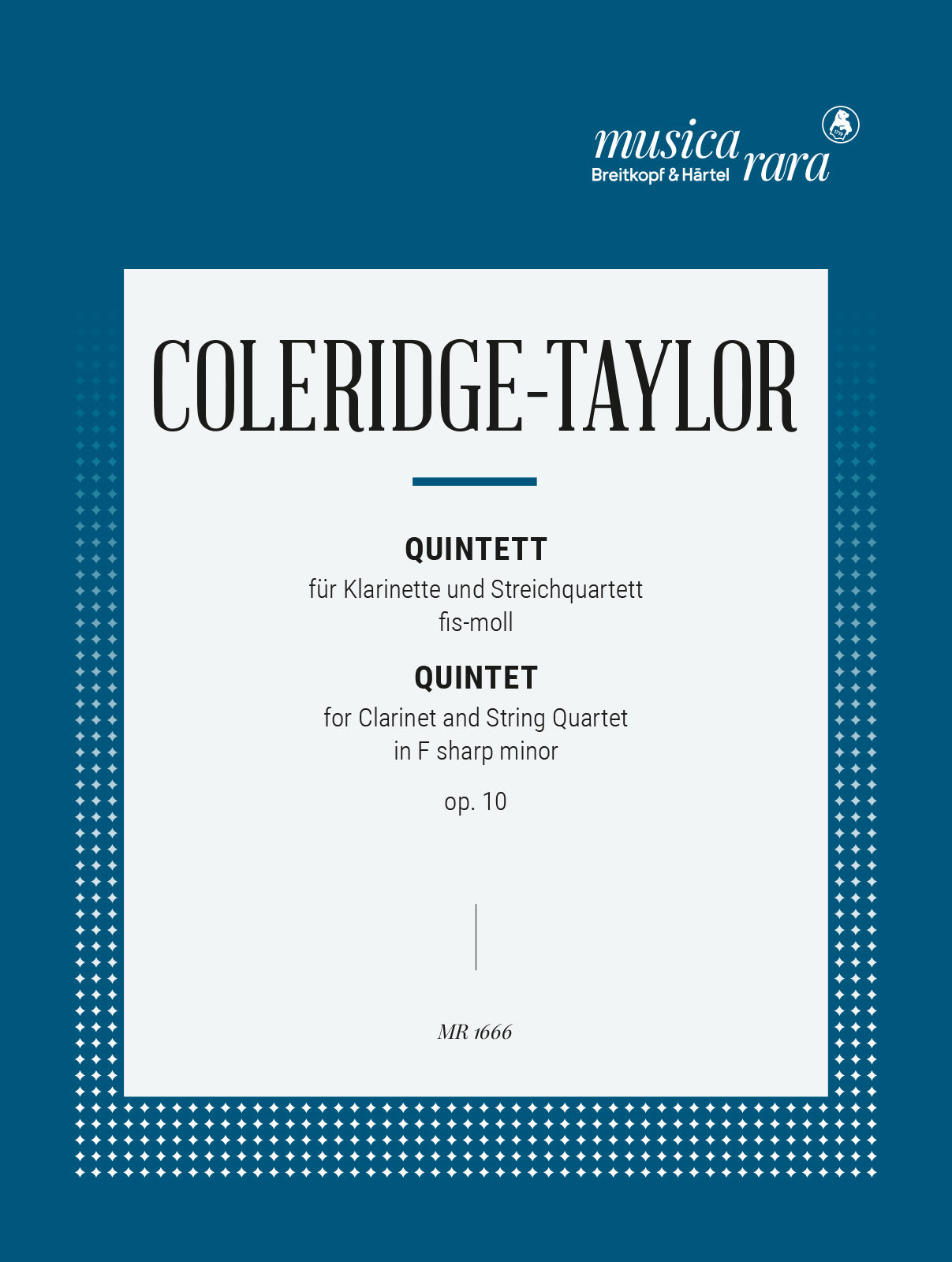 Coleridge-Taylor: Clarinet Quintet in F-sharp Minor, Op. 10