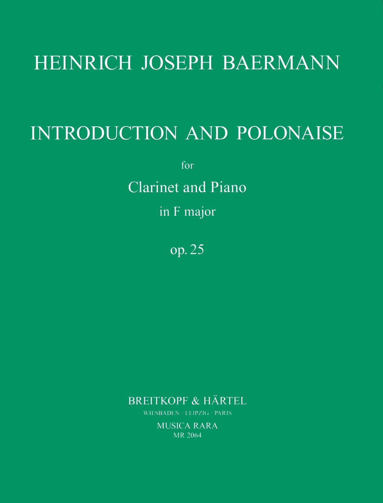Baermann: Introduction and Polonaise in F Major, Op. 25