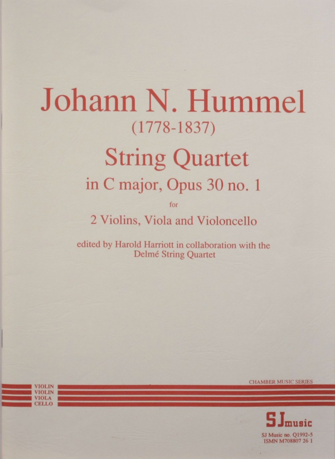 Hummel: String Quartet in C Major, Op. 30, No. 1