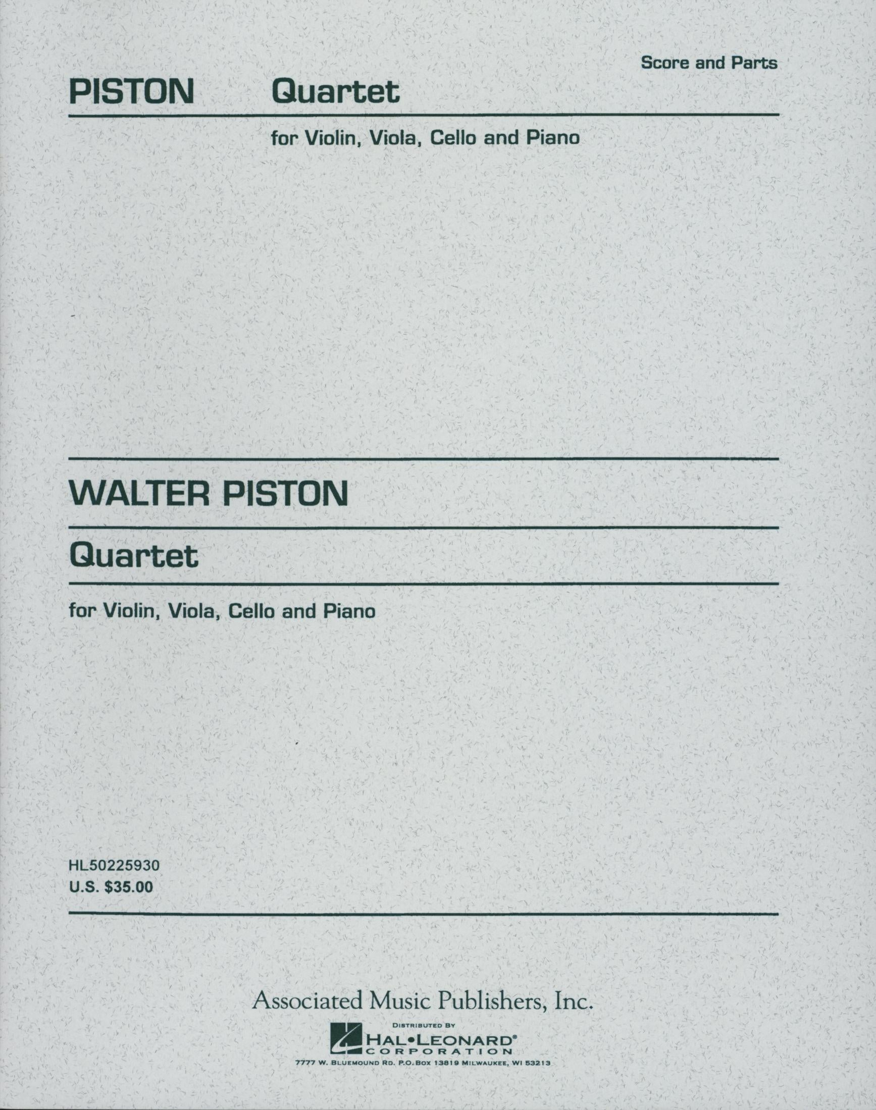 Piston: Piano Quartet