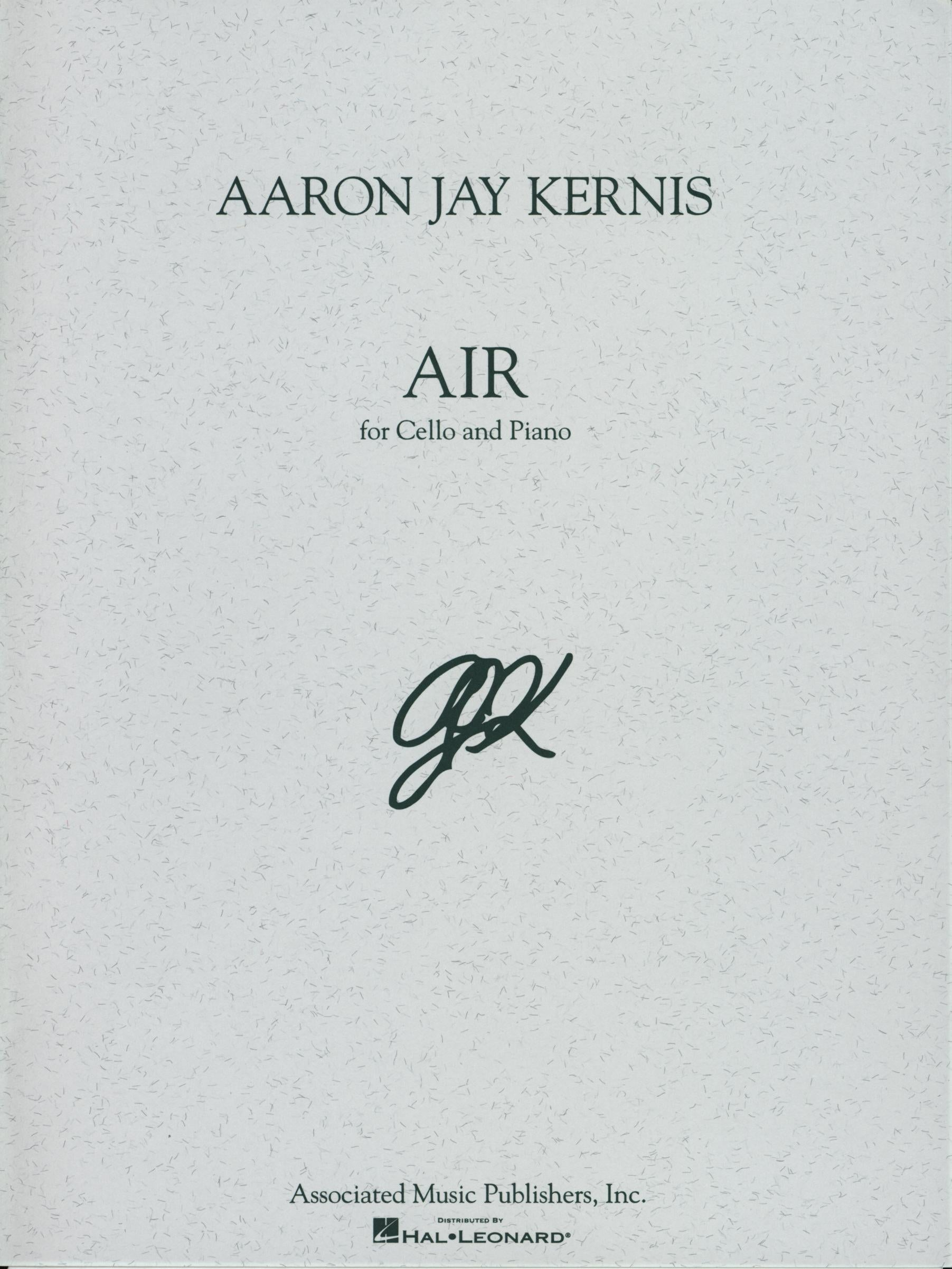 Kernis: Air for Cello and Piano