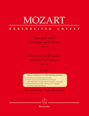 Mozart: Violin Concerto No. 4 in D Major, K. 218