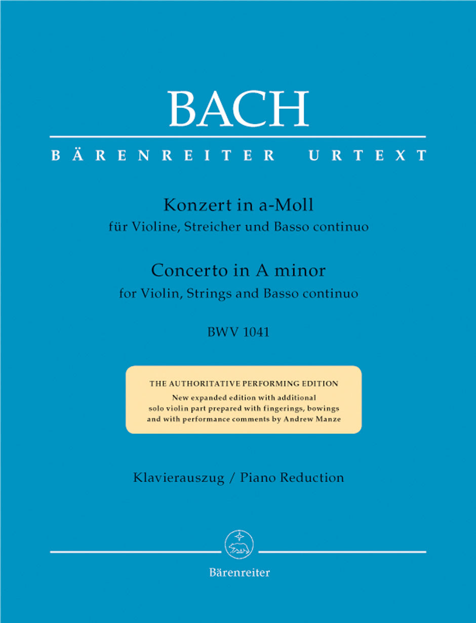 Bach: Violin Concerto in A Minor, BWV 1041